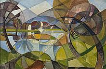 Mary Swanzy HRHA (1882-1978)Cubist LandscapeOil on canvas, 42 x 63cm (16å_