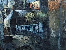Donald Teskey RHA (b.1956)Church St., Father Matthew Bridge, DublinOil on c