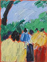 Phil Kelly (1950-2010)A Walk in the ParkOil on canvas, 40.5 x 30.5cm (16 x