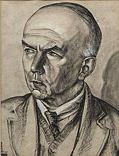 Harry Kernoff RHA (1900 - 1974)Patrick Kelly - Ballad ManCharcoal, 49 x 30.