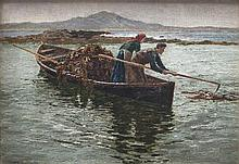 William H. Bartlett ROI (1858-1932)Collecting Kelp, ConnemaraOil on board,