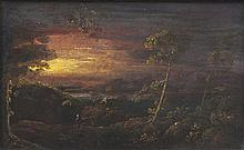 William Sadler II (c.1782-1839)Figures in landscapes, at SundownA pair, oil