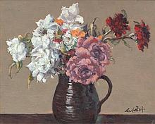 Maurice MacGonigal PRHA (1900 - 1979) Still Life, Flowers in Jug Oil on