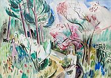 Norah McGuinness HRHA (1901-1980) Girls in the Garden, Early Summer (aka Pi