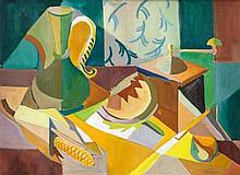 Fr. Jack P. Hanlon (1913-1968) Still Life on Table  Oil on canvas, 53 x
