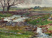 Harry Scully RHA (c.1863-1935) The Weir Watercolour, 22 x 30cm (8.75 x 11.7