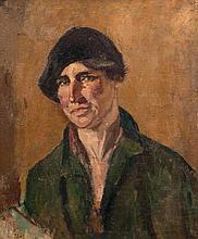 Estella Frances Solomons HRHA (1882-1968) Portrait of a Woman in a Beret -