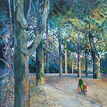 Colin Middleton RHA RUA MBE (1910-1983)  Castle Park, Bangor Oil on canvas,