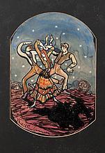 Micheál Mac Liammóir (1899-1978) Design for ''God's Gentry'' Gouache, 47 x