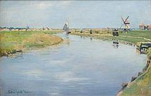 Stanhope Alexander Forbes RA (1857-1947) By the Canal, Holland Oil on panel