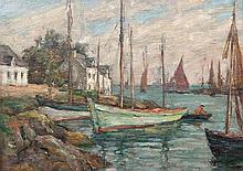 Aloysius O'Kelly (1853 - 1936) Le Passage Oil on board, 24 x 32cm (9½ x 13'