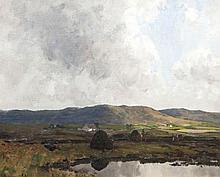 James Humbert Craig RHA RUA (1877 - 1944)  Dungloe, Co. Donegal Oil on canv