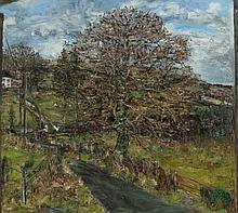 Nick Miller (b.1962) Winter Tree (2001)  Oil on canvas, 91 x 102cm (35¾