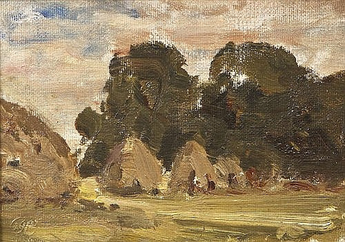 Nathaniel Hone, RHA (1831-1917) Sketch of Haycocks