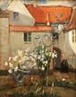 Norman Garstin (1847-1926) Madonna Lilies Oil on