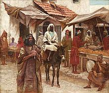 Aloysius O'Kelly (1853-1936) The Market Place,