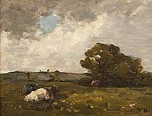 Nathaniel Hone RHA (1831-1917) Cattle at Malahide
