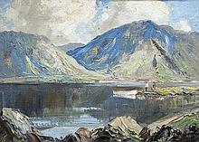 Rowland Hill ARUA (1915-1979) A Lake in Galway Oil