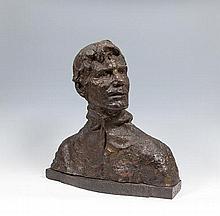 Jerome Connor (1876-1943) The Bellman Bronze, 47cm