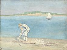 George Russell Æ (1867-1935) The White Sail,