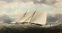 Matthew Kendrick RHA (1805-1874) Yachts Racing off