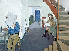 Gerard Dillon (1916-1971) Reading the Paper -