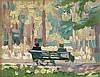 William John Leech RHA (1881-1968) On a Seat in