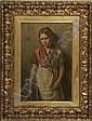 Frank Bramley (1857-1915) Portrait of a Schoolgirl