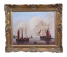 MODERN SCHOOL  A 19th Century Dutch Seascape of shipping in shore