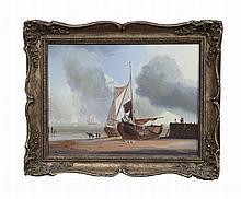 M. ALEXANDER (MODERN SCHOOL)  A 19th century Dutch Beach Scene   Oi