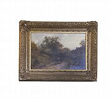 STYLE OF MARK FISHER RA (1841-1923)  Wooded Landscape with cattle and f