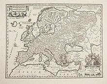 ORTELIUS (ABRAHAM)Mid 17th century European, Sive Celticam VeteramDouble page engraved map, 348 x 470Unframed