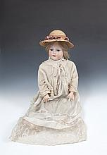 AN ARMAND MARSEILLE CHILD DOLL, the bisque head stamped 'Armand Marseille' and numbered '390'; 'A.IO