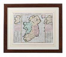 FRENCH SCHOOL (18th CENTURY) A Map of Ireland Etching, 35 x 46.5cm