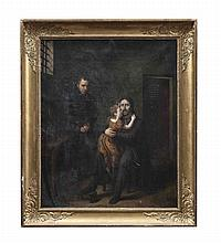 C. GIROUST (19TH CENTURY) The Prisoner's Visitor  Oil on canvas, 72 x 58cm Signed