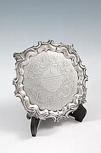 A VICTORIAN SHAPED CIRCULAR SILVER SALVER, London 1838, mark of  Edward, Edward junior, John & Willi