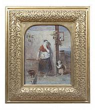 VICTORIAN SCHOOL Hide and Seek Watercolour, 45.5 x 36cm