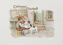 COLMAN'S MUSTARD Watercolour proofs, 37.5 x 51.5cm, unframed