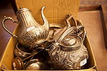 A LARGE COLLECTION OF MISCELLANEOUS SILVER PLATED