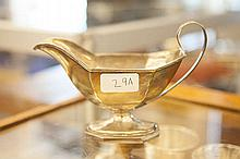 A SILVER SAUCE BOAT