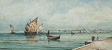 THOMAS BUSH HARDY (1842-1897)On the Grand Canal, VeniceWatercolour, 23.5 x 52.5cmSigned and inscribed with title