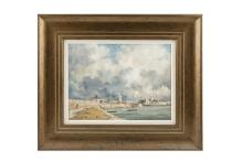 KEITH MANSFIELDThe West Pier, Dun LaoghaireOil on board, 29 x 39.5cmSigned