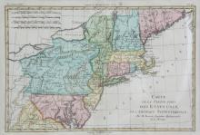 A COLLECTION OF MISCELLANEOUS FRAMED MAPS, including a hand-coloured example of the northern states of America, another of Africa and three others. Various sizes (6)
