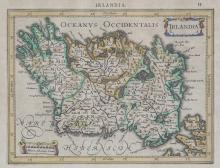 A COLLECTION OF FIVE FRAMED MAPS, including a miniature map of Ireland by Ortelius, 19 x 14cm, and four others relating to the counties of Tipperary, Kildare and Dublin (5)