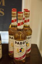 FIVE BOTTLES OF PADDY WHISKEY