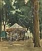 NORMAN GARSTIN (1847-1926) The Carousel Watercolour