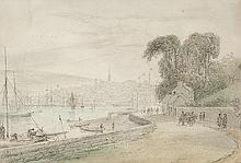 William Daniell RA (1769-1837) Londonderry seen from the River FoylePencil with watercolour