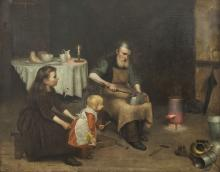 Joseph O'Reilly (1865-1893)A Tinsmith at WorkOil on canvas