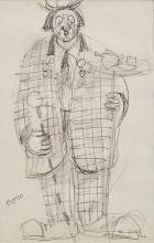 George Campbell RHA (1917-1979)CocoPen and pencil 20 x 13cm (8 x 5'')Signed and inscribed with title and dated 1961Exhibited: 'George Campbell and the Belfast Boys'