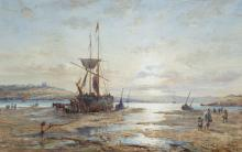 Edwin Hayes RHA RI ROI (1819-1904)Sunset over an EstuaryWatercolour